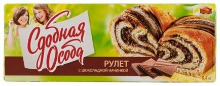 Рулет Сдобная особа с шоколадной начинкой 400 г