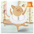 Бисеринка Набор для вышивания бисером Балерина 17 х 17 см (Б-0131)