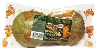 """Обнинский Хлеб Булочки для гамбургеров """"Дон Зеленка"""" ржаные с кунжутом 180 г"""