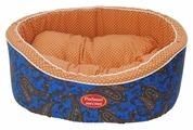 Лежак для собак, для кошек Родные места Премиум №1 Огурцы (3428687/3429097) 43х38х15 см