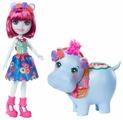 Кукла Enchantimals Бегемотик Хедда и Лейк, 15 см, GFN56