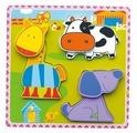 Рамка-вкладыш Viga Животные фермы (59303), 6 дет.