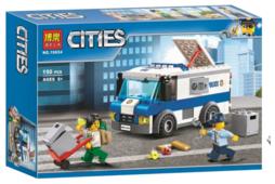 Конструктор BELA Cities 10654 Ограбление инкассаторской машины