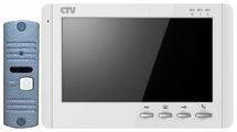 Комплектная дверная станция (домофон) CTV CTV-DP1700M синий (дверная станция) белый (домофон)