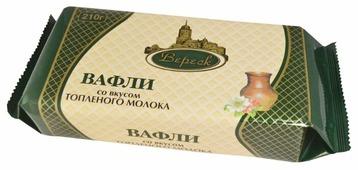 Вафли Вереск, вкус топленое молоко 210 г