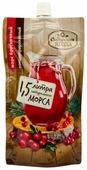 Морс Сибирская ягода Морс брусничный концентрированный с сахаром