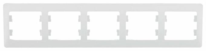 Рамка 5п Schneider Electric GLOSSA GSL000105, белый