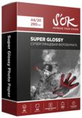 Бумага A6 20 шт. S'OK Super Glossy 290г/м2
