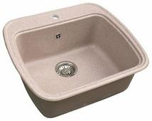 Врезная кухонная мойка Granicom G-003 57.5х50.5см искусственный мрамор