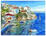 "ВанГогВоМне Картина по номерам ""Белые домики Греции"", 40х50 см (ZX 20093)"