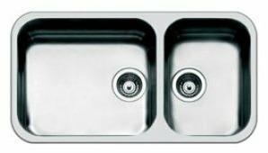 Врезная кухонная мойка smeg UM4530 84х46см нержавеющая сталь
