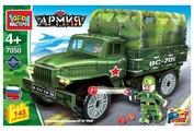 Конструктор ГОРОД МАСТЕРОВ Армия 7050 Военный грузовик Урал с тентом