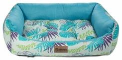Лежак для кошек, для собак Гамма Тропики прямоугольная медиум 52х45х17 см