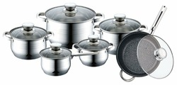 Набор посуды Bekker De Luxe BK-1755 12 пр.