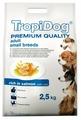 Корм для собак TropiDog лосось с рисом (для мелких пород)