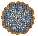 Созвездие Набор для вышивания крестом на основе Новогодняя игрушка Морозный узор 6,5 х 6,5 см (ИК-003)