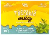 Твердый мёд Карамель медовая Твёрдый мёд с ментолом и эвкалиптом 10 шт.