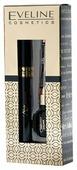 Eveline Cosmetics Набор: тушь для ресниц объемная, удлиняющая черная, подводка для глаз водостойкая черная