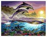 "ВанГогВоМне Картина по номерам ""Дельфины"", 40х50 (ZX 10001)"