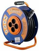 Glanzen Удлинитель силовой на катушке 4 гн. КГ 3х2.5 IP44 ЕВ-50-010
