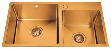 Врезная кухонная мойка ЕМАР EMB-210 78х43см нержавеющая сталь