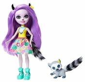 Кукла Enchantimals Лариса Лемури с любимой зверюшкой, 15 см, GFN44