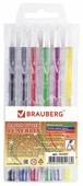 BRAUBERG набор гелевых ручек Jet 6 цветов, 0.7 мм (141037)