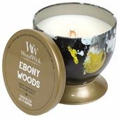 Свеча WoodWick Ebony Woods в чаше (77668), средняя