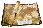 Правила Успеха Карта мира А2 со стираемым слоем в тубусе