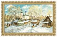 Золотое Руно Набор для вышивания Деревенская зима 28,2 х 48 см (МД-012)