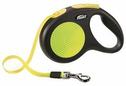 Поводок-рулетка для собак Flexi New Neon XS ленточный