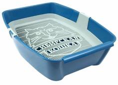 Туалет-лоток для кошек Сибирская кошка Евро глубокий с сеткой 44х32х11 см