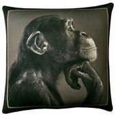Подушка декоративная Мнушки Мудрая обезьяна О счастье, 35 x 35 см (АБ000024)
