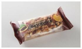 Ореховый батончик ВкусВилл твердый миндаль-шоколад-апельсин, 35 г