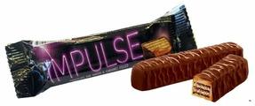 Батончик вафельный Яшкино Impulse с карамельной начинкой 16 г