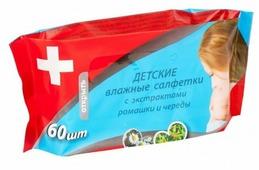 Влажные салфетки MiniMax С экстрактами ромашки и череды