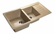 Врезная кухонная мойка GranFest Practic GF-P980KL 98х51см искусственный мрамор