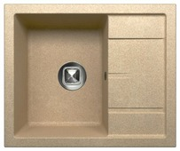 Врезная кухонная мойка Tolero R-107 59.5х49.5см кварцевый искусственный камень