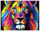 "ВанГогВоМне Картина по номерам ""Радужный лев"", 40х50 см (ZX 20230)"
