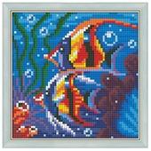 Алмазная живопись Набор алмазной вышивки Обитатели рифа (АЖ-1364) 15х15 см