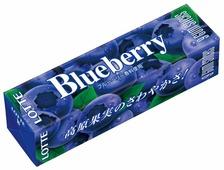 Жевательная резинка Lotte Confectionery Blueberry со вкусом голубики, 26г