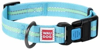 Ошейник WAU DOG Nylon светонакопительный (15 мм) 23-35 см