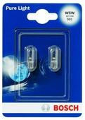 Лампа автомобильная накаливания BOSCH Pure Light 1987301026 W5W 12V 5W 2 шт.
