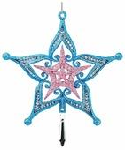 Елочная игрушка ErichKrause Звезда с кристаллом 15 см (47784)