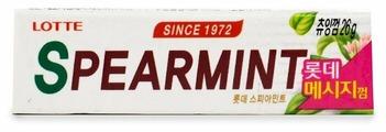 Жевательная резинка Lotte Confectionery Spearmint, 26 г
