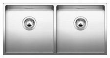 Врезная кухонная мойка Blanco Claron 400/400-U 86.5х44см нержавеющая сталь