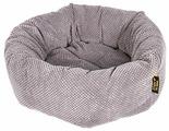 Лежак для собак PRIDE Ватрушка Велюр (10011351) 45х45х12 см