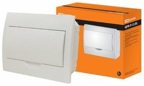 Щит распределительный TDM ЕLECTRIC ЩРВ-П-12 встраиваемый, пластик, модулей 12