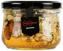 Мед Мед и Конфитюр Ассорти в меду кедровые орехи, кешью, грецкий орех, миндальный, тыквенные семечки, кунжут
