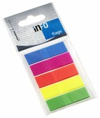 Global Notes блок-закладка с липким слоем 5 цветов по 26 л, 12,5х43 мм (772751)